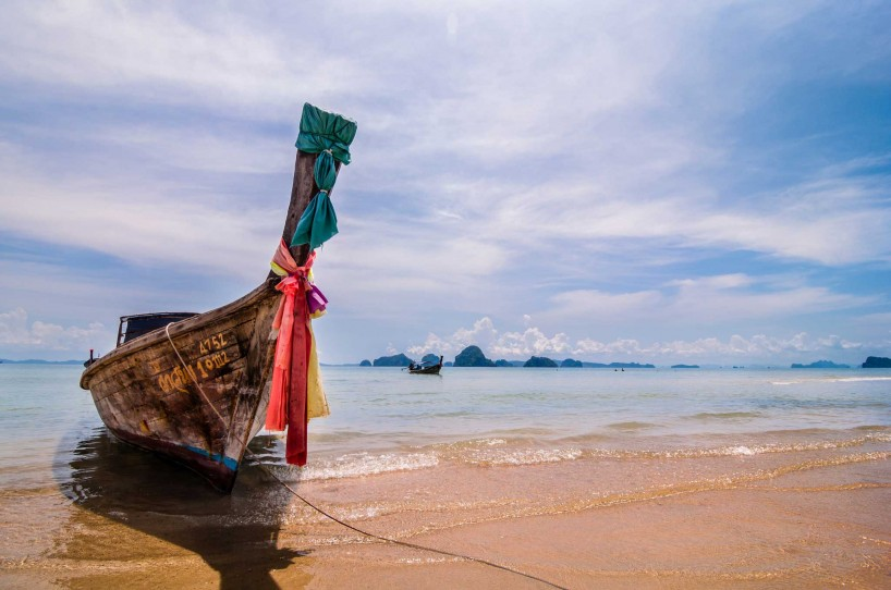 Thailand Longboat on the beach