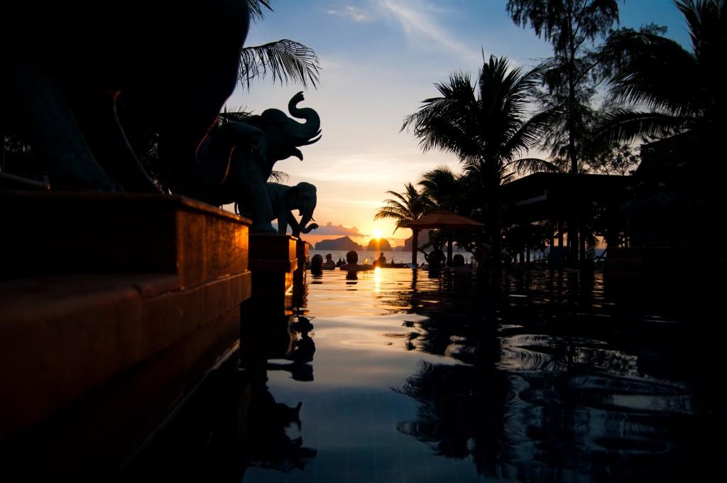 Thailand Resort at Sunset