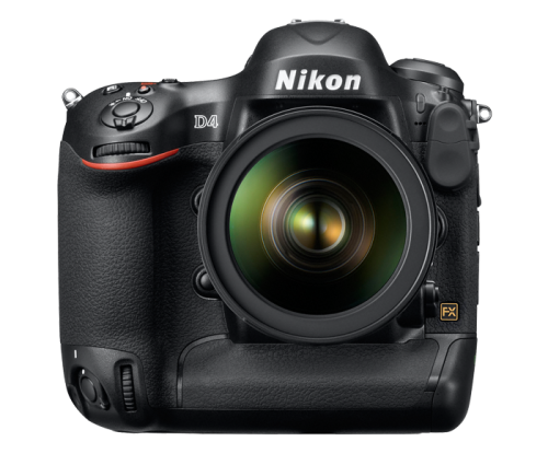 Nikon D4 High Res Front Transparent