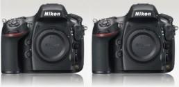 Nikon D800 D800E side by side