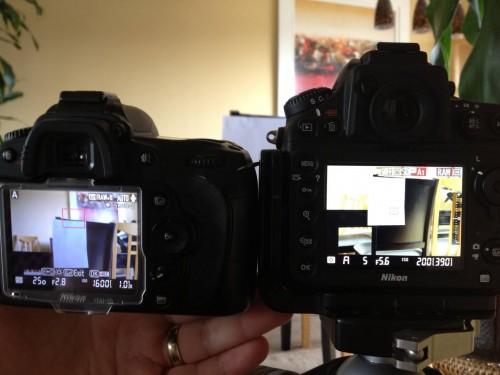 iPhone 4S shot of D90 and D800 no WB adjustment