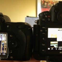 iPhone 4S shot of D90 and D800 WB adjustment to paper