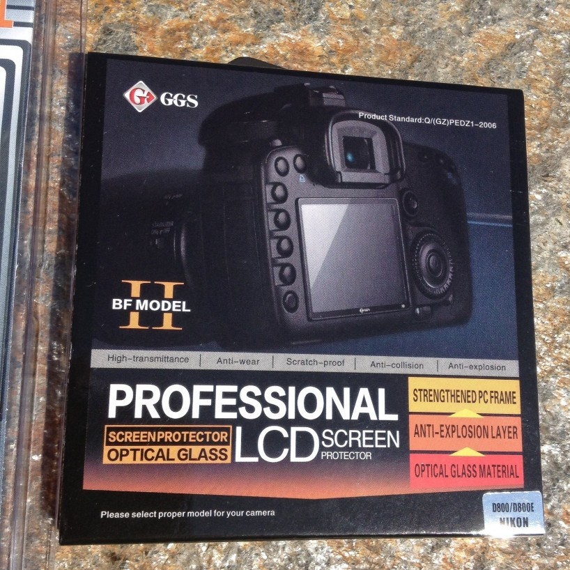 GGS Nikon D800 LCD Screen Protector - replacement package detail