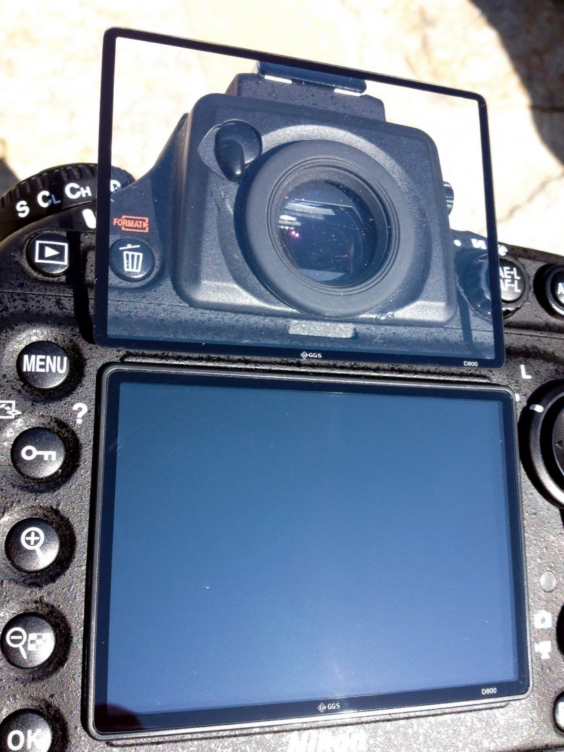GGS Nikon D800 LCD Screen Protector - both glass LCD covers
