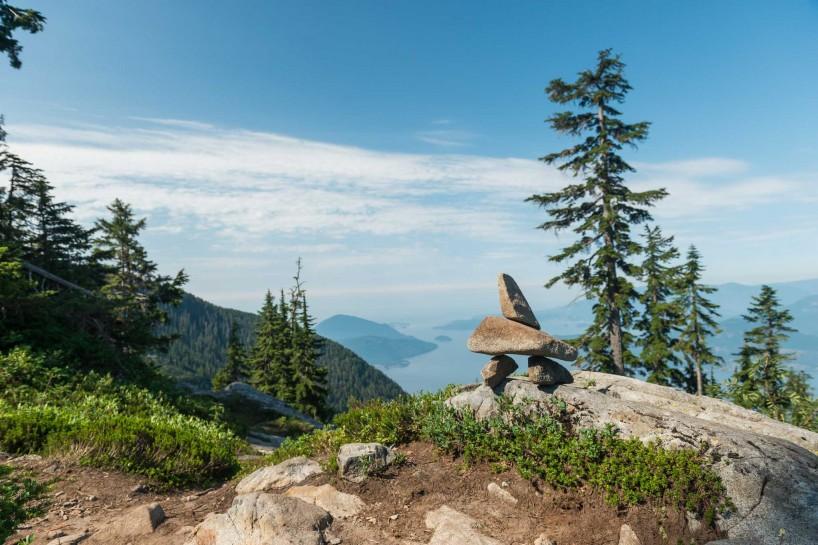 Lions Binkert Trail Hike Vancouver - 2012-08-18 : Inuksuk over howe sound