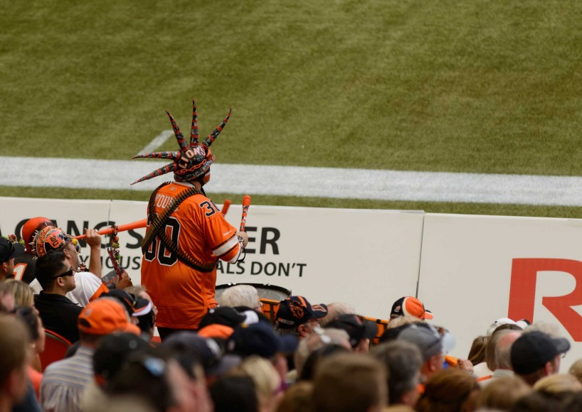 CFL Football : BC Lions vs Montreal Alouettes : Sept 8 2012 : Fan