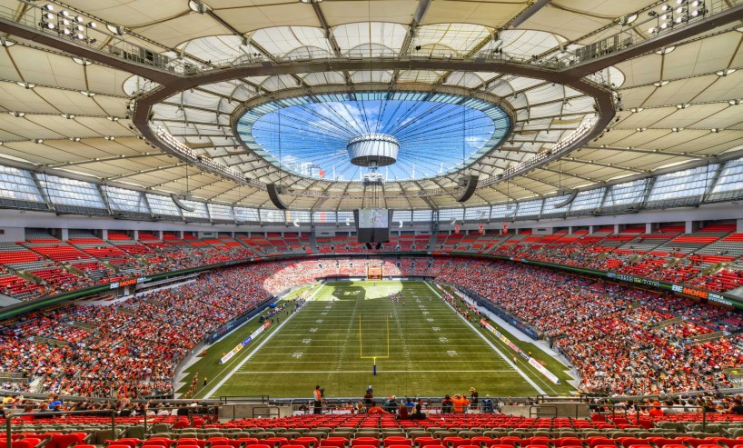 CFL Football : BC Lions vs Montreal Alouettes : Sept 8 2012 : BC Place Stadium Vancouver : HDR