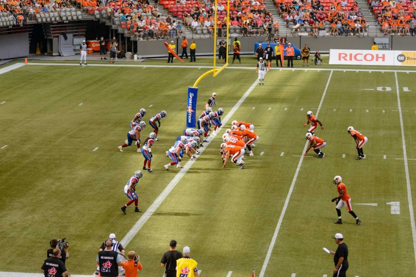 CFL Football : BC Lions vs Montreal Alouettes : Sept 8 2012 : Not good for Montreal