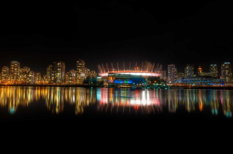 BC Place Stadium At Night