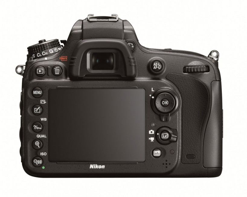Nikon D600 Full Frame Camera : Back
