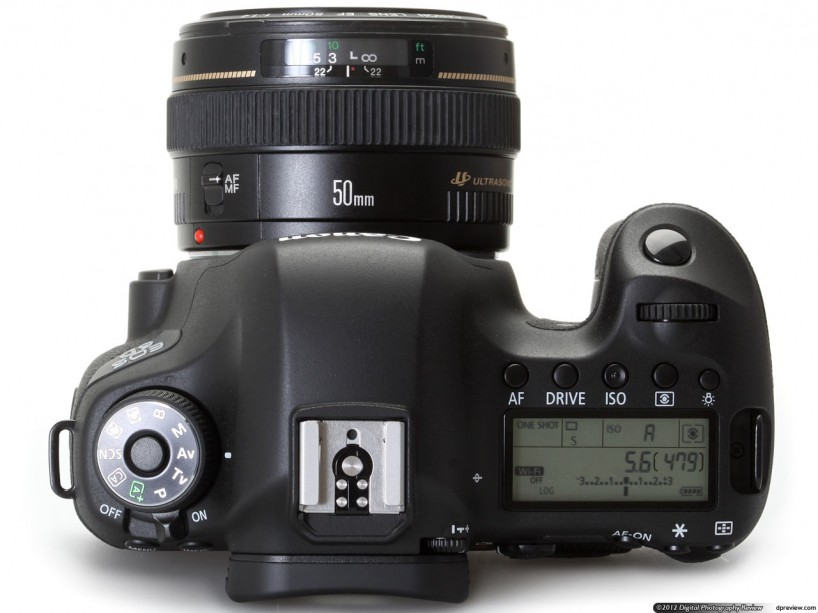Canon 6D Full Frame Camera : Top