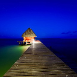 Belize 2012-12-02 : Coco Plum Island Resort : Dock at Night