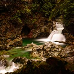 Lynn Valley Hike : Suspension Bridge and Twin Falls 2012-12-29 : Twin falls long exposure