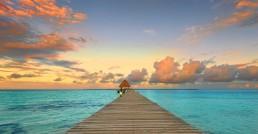 Sunset in Belize, Coco Plum Island Resort