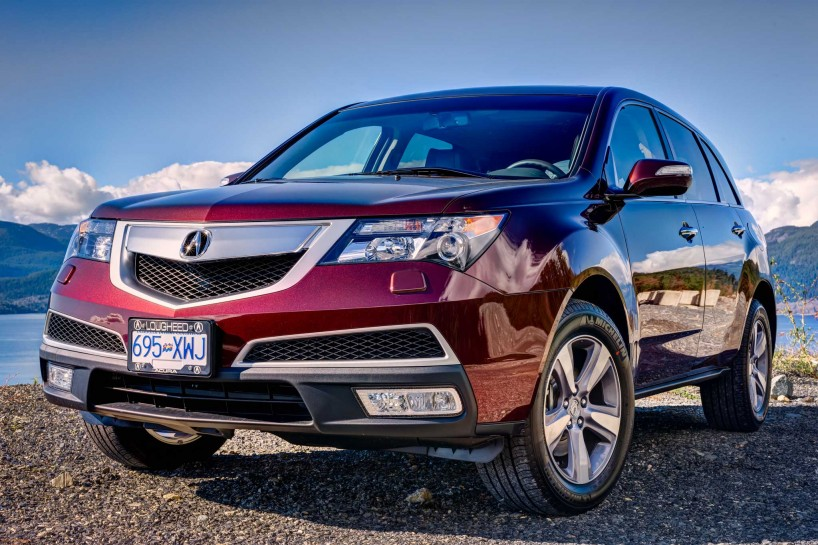 2013 Acura MDX Tech Edition - Dark Cherry Pearl - Sea To Sky Highway Front