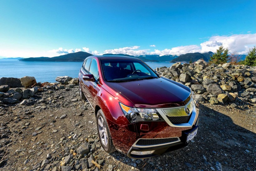 2013 Acura MDX Tech Edition - Dark Cherry Pearl - Sea To Sky Highway Quarter