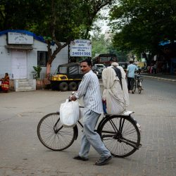 2012 Oct : Mumbai India Visit : Man with Bike