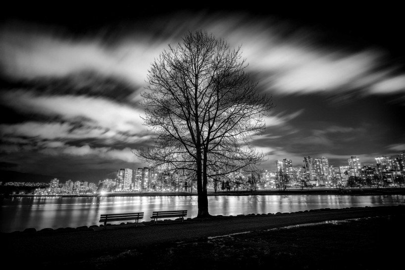 Black & White Long Exposure 2014-03-30: Vanier Park