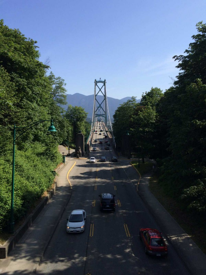 Slow Road To Squamish: iPhone 5S Lions Gate Bridge