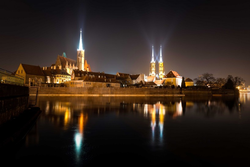 Wrocław, Poland : Cathedral of St. John the Baptist At Night : 2015-02-13