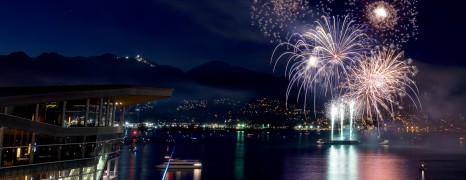 Canada Day Fireworks At Canada Place