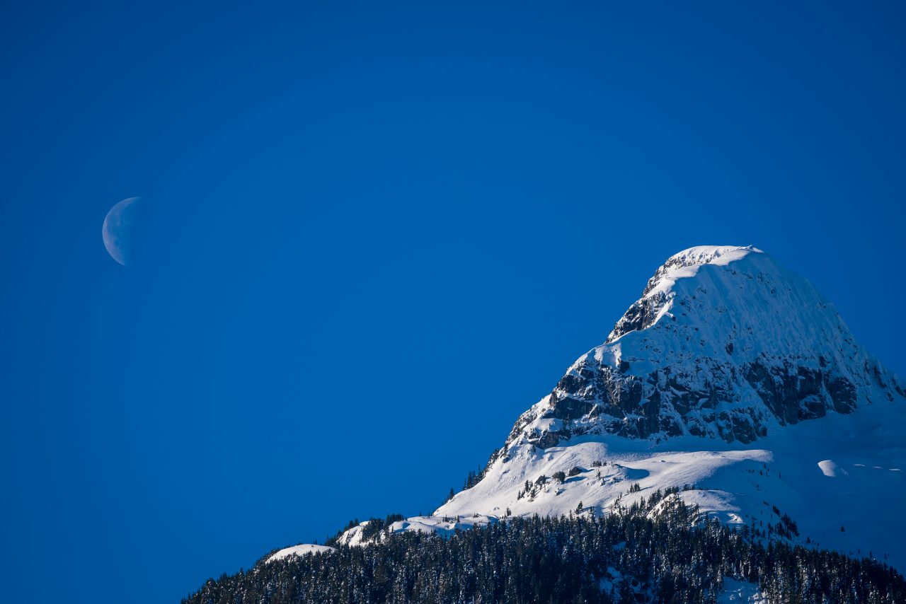 Squamish Bald Eagles : 2016-01-02 : Nikon D810 & Nikkor 200-500 : Moon Landscape