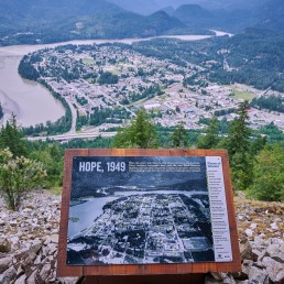 2019-07-06 - Hike up Hope Lookout Trail - 1949 sign