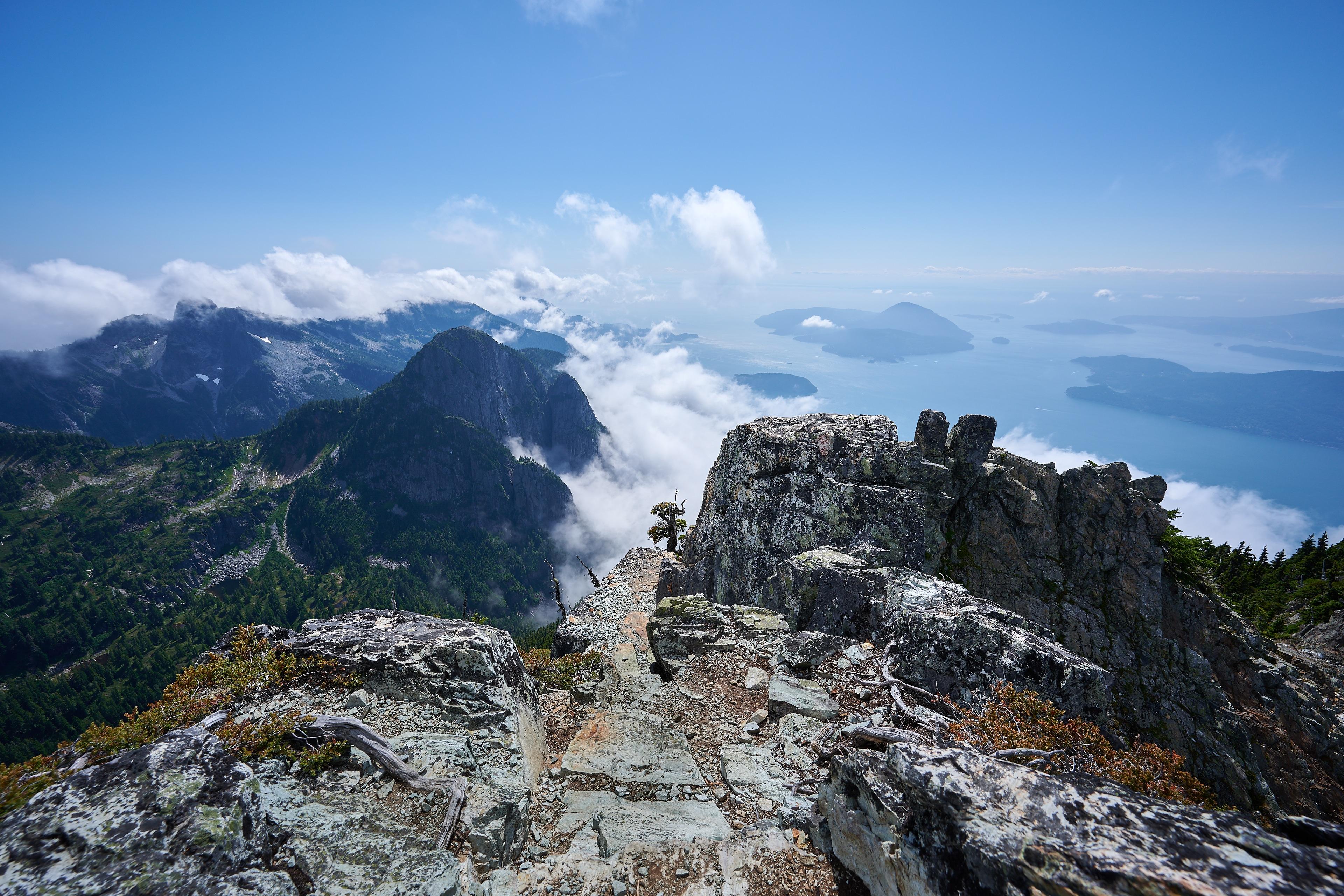 Hiking Brunswick Mountain 55
